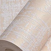 XHHWZB Weiße strukturierte Tapete, moderne Streifen-Tapeten-Rolle 9.5M Hight Qualität nicht gesponnene Tapeten-Paste die Wand für Wohnzimmer, Mädchen Schlafzimmer, Eigenschaft Wände und Kinder Art Dec