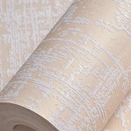 Preisvergleich Produktbild XHHWZB Weiße strukturierte Tapete,  moderne Streifen-Tapeten-Rolle 9.5M Hight Qualität nicht gesponnene Tapeten-Paste die Wand für Wohnzimmer,  Mädchen Schlafzimmer,  Eigenschaft Wände und Kinder Art Dec