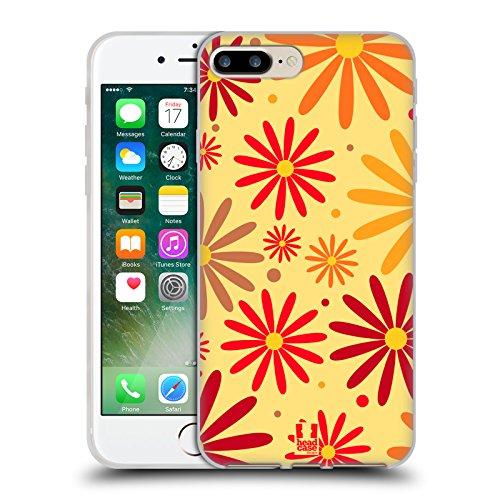 Head Case Designs Pattern Margherite Strisce Floreali Fashion Cover Morbida In Gel Per Apple iPhone 7 Plus / 8 Plus Margherite Random