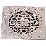 SDKKY tous les drains de plancher l'épaississement de l'odeur de cuivre, nickel, preuve de dessin, machine à laver, des drains de plancher de 4 pouces
