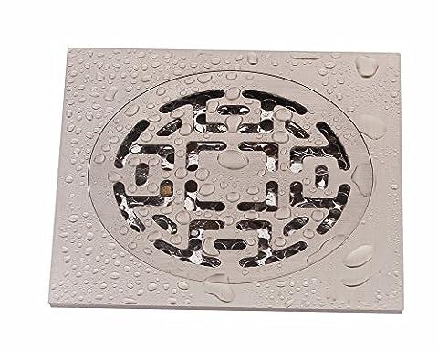 Sdkky tout en cuivre, épaississant Odor Proof Siphon de sol, Nickel Dessin machine à laver, Siphon de sol 10,2cm