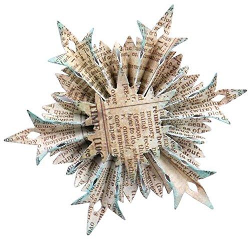 Sizzix Schneeflocke Rosette von Tim Holtz Sizzlits Stanzplatte, dekorativ, Schwarz -