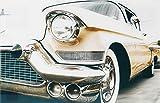 Glasbild Oldtimer Sammlerstücke | 40x60cm | Beiges Auto