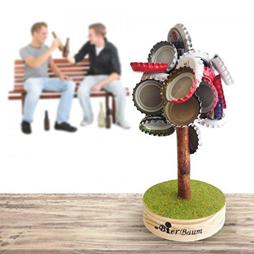Magnosphere Baum-Magnetischer Kronkorken Magnet 12cm, hält bis 5,7kg-Der Bierbaum Bier-Freunde-als Mitbringsel für Partys, Chrom