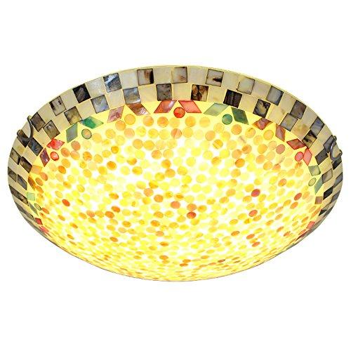 LED Deckenleuchte im Tiffany Stil 22W Warmesweiß Deckenlampe Flur Schlafzimmer Restaurant Deckenbeleuchtung (50cm) (22 Tiffany Deckenleuchte)