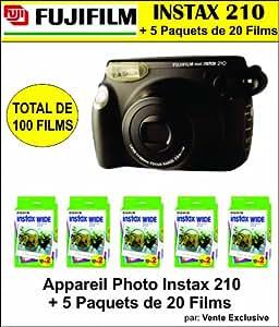 Appareil Photo Instax 210 + 5 boites de 20 pellicules - Total 100 photos!
