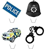 Novelty Police Mix 12 Edible Stand Up wafer paper cake toppers birthday
