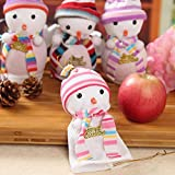 YfqUamarylli Cute Snowman Doll Christmas Apple Coulisse Confezione Regalo Decorazione di Natale–Stile Casuale