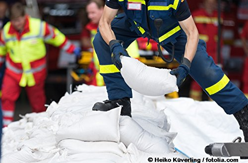 Sandsäcke 100 er Pack Hochwassersäcke strapazierfähig und reißfest Maße: 30 x 60 cm Farbe: weiß mit Zugband