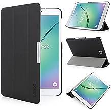 iHarbort® Samsung Galaxy Tab S2 8.0 Funda - ultra delgado ligero Funda de piel de cuerpo entero para Samsung Galaxy Tab S2 8.0 T710 , con la función del sueño / despierta, negro