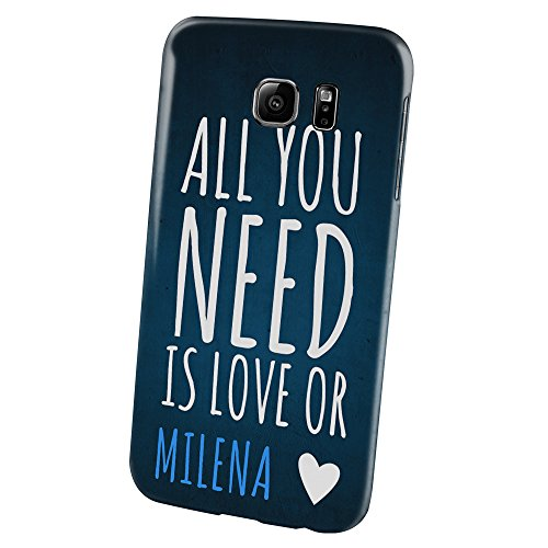 "PhotoFancy - Samsung Galaxy S6 Handyhülle mit Name Milena - Design ""Need Love"""