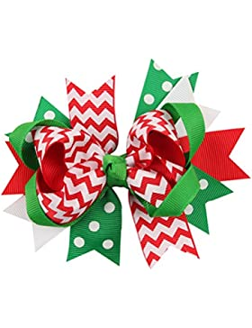 Zhhlinyuan Girls Big Bow tie Hair Clips Baby Multi-style Christmas Ribbon Hairpin