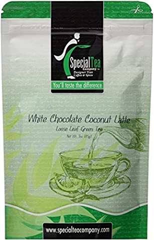 White Chocolate Laced with Mint Loose Leaf Tea Blend 3 oz. with Free Tea Infuser