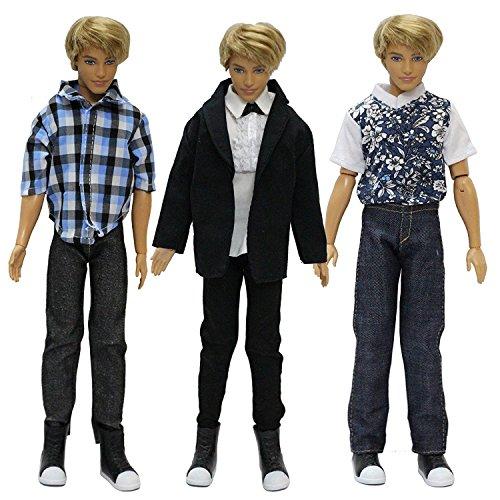 ZITA ELEMENT Mode Beiläufig Kleidung passt für Barbie' Freund Ken Puppen kleider,3 SET (Kleid Freund)
