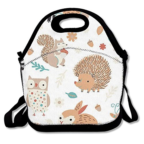 8e2bf976a4f8 Critter Patch Organic Cotton Fabric by Designer Alyssa Thomas Penguin and  Fish Cute Woodland Animals Owls Waifu2x Photo Scale TTA 1 Lunch Bags Lunch  ...