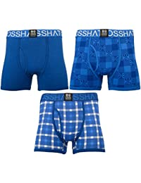 Crosshatch Checkham, Boxer Homme, (lot de 3)