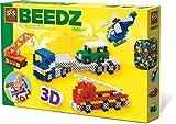 SES 06253 Creative 06253-Beedz Bügelperlen 3D Fahrzeuge