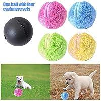 Teepao Rullo Rullo Giocattolo, Automatico Magic Ball Magic Ball Dog Cat Pet Toy (1Rolling Ball 4Color Ball Cover)