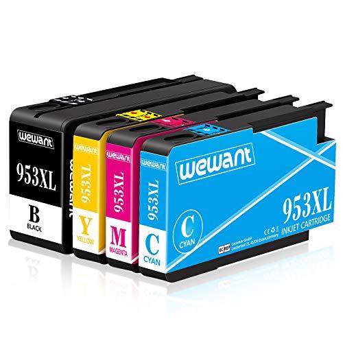 Wewant 953XL Compatibile Cartucce dinchiostro Sostituzione per HP 953XL 953 Lavorare con HP Officejet Pro 8710 8720 7740 7720 8718 8715 8210 7730