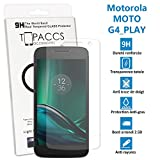 topaccs Motorola Moto G4 Play - Véritable vitre de protection écran en Verre trempé ultra résistante - Protection écranv