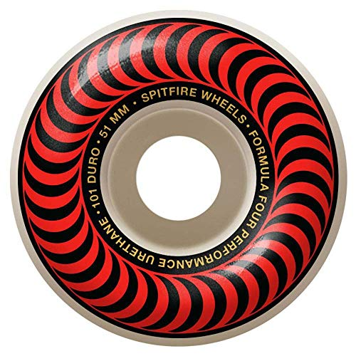 Spitfire Skateboard Rolle Classics 101-51Mm Rot (One Size, Rot) (Spitfire Classics Wheels)