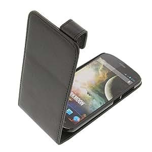 Tasche für Wiko Darkmoon Flipstyle Schutz Hülle schwarz