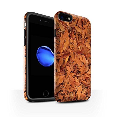STUFF4 Glanz Harten Stoßfest Hülle / Case für Apple iPhone 8 / Eiche/Braun Muster / Herbstblätter Kollektion Eiche/Braun