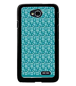PrintDhaba Skull pattern D-1947 Back Case Cover for LG L70 (Multi-Coloured)