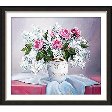 ytg 5d diy Diamond pintura de costura de punto de cruz parte taladro Fascinación flor 55* 48diamantes bordado flor cubo de Rubik (imagen, Flower-1,