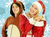 Singen Sie Jingle Bells Lied mit Santa Claus und Deer