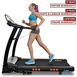 JLL S400 Premium Digital Motorised Treadmill, 2017 New Generation, Auto Incline, Bluetooth (Black)