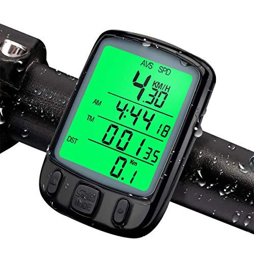 urbetter Fahrradcomputer Fahrradtacho Wasserdicht Radcomputer Automatisches Aufwecken und Multifunktionen Tachometer LCD-Hintergrundbeleuchtung Kilometerzähler für Radsport Realtime Speed Track -