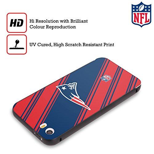 Ufficiale NFL Righe 2017/18 New England Patriots Nero Cover Contorno con Bumper in Alluminio per Apple iPhone 6 Plus / 6s Plus Righe