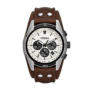 Fossil CH2890 - Reloj cronógrafo de cuarzo para hombre, correa de cuero color marrón (cronómetro) de Fossil