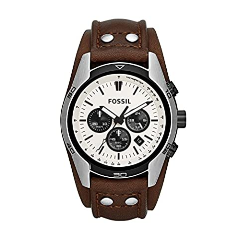Fossil Men's Watch CH2890 - Quadrante Marrone Vera Pelle