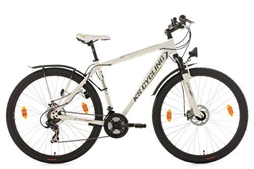KS Cycling Mountainbike Hardtail Atb Twentyniner Heist RH 51 cm Fahrrad, Weiß-Grün, 29 29er Bike
