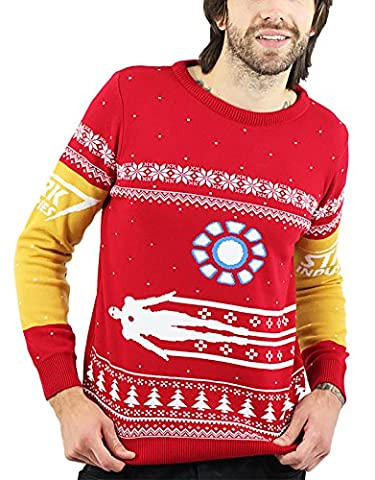 Iron Man T-shirt Costume - Iron Man Christmas Jumper costume stark nouveau