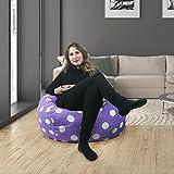 Original Panda Sleep Bean Bag in Lavender with White Polka Dots (2.5-Foot)