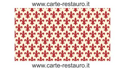 Madiant Tech snc di Gusmini Alessio & C. Florentiner Lilienpapier, Format 70x100 cm - Farbe: Rot - (Preis pro Packung à 10 Stück)