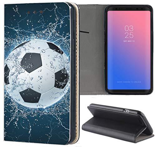 KAOne-Mobile Apple iPhone 5 / 5s / SE Hülle Motiv 1391 Fussball Fußball aus Kunst-Leder Handyhülle Flipcover Schutzhülle Smart Cover Handy Case Hülle für Apple iPhone 5 / 5s / SE