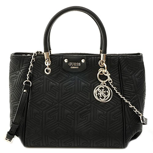Guess Handtasche - G Cube Quilt - Abbey Satchel - Black