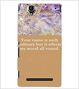 PrintDhaba Quote D-3718 Back Case Cover for SONY XPERIA T2 ULTRA (Multi-Coloured)