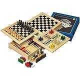 Philos Travel Wooden Game Compendium - 20cm (4 games)