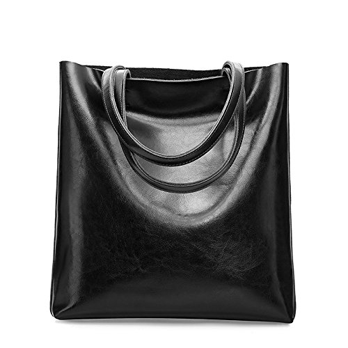 GUANGMING77 _ Borsa Tote Bag Borsetta Portatile Semplice,Verde black