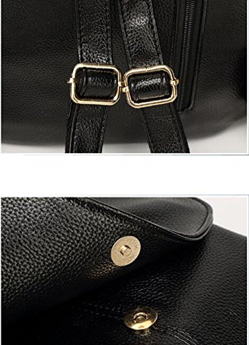 Damen Retro Adrett Schulter Mode-Handtaschen WineRed