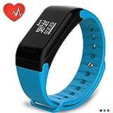 Ocamo Smart Bracelet Montre Moniteur de Fréquence Cardiaque Pression Artérielle Fitness Tracker