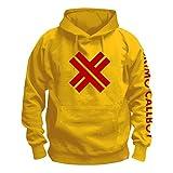 ESKIMO CALLBOY - Red X - Yellow - Kapuzenpullover / Hoodie Größe M