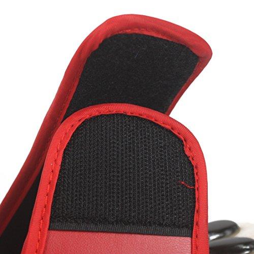 Andux Zone Scarpe di Pietra Naturali Massaggi / Massaggio del Piede Slipper Sandali - Riflessologia TX-01 rosso