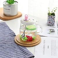 Chupete creativo vaso de boro alto Copa de cristal transparente coreana taza de leche de café