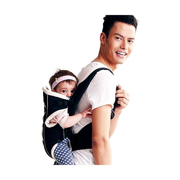 "Bebamour Brand Baby Carrier 3 in 1 Front and Back Carrier for Baby Functional Baby Carrier Backpack (Black) bebear Soft mesh and cotton make baby comfortable in all position; The baby carrier has all-around head support so that baby 's head can be protected well. Max.Capacity: 3.5-12KG; Baby Age: from 3-24month; With English user manual; Easy to carry according to the manual. Size: L12.60""*H8.6""*W4.0""(L32*H22*W10cm); The carrier's waist band can be lengthen to 45.27""(115cm) which is suit for each man and woman. 5"